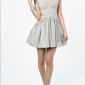 Nude Cutout dress